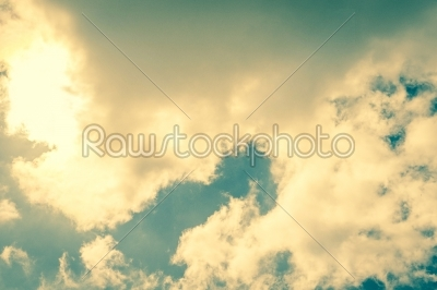 stock photo: sun behind white clouds-Raw Stock Photo ID: 69769