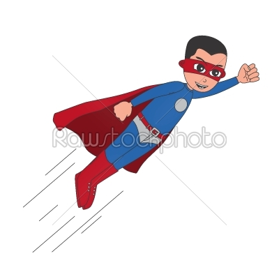 stock vector: superhero cartoon character-Raw Stock Photo ID: 68802