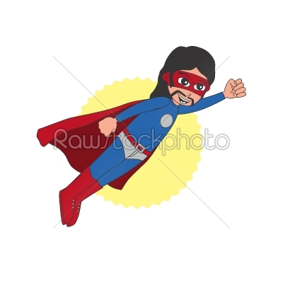 stock vector: superhero cartoon character-Raw Stock Photo ID: 68809