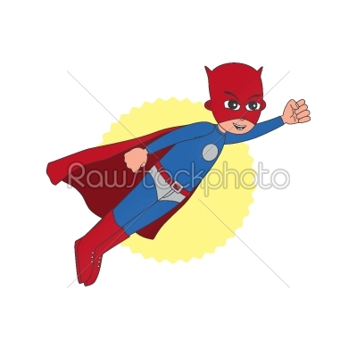 stock vector: superhero cartoon character-Raw Stock Photo ID: 68815