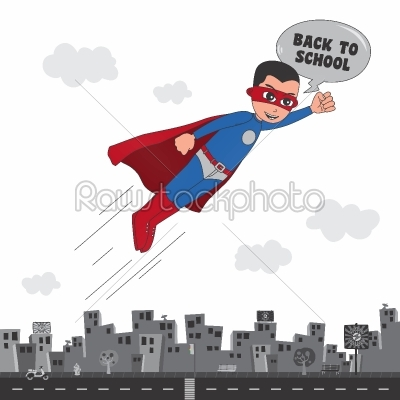 stock vector: superhero cartoon character-Raw Stock Photo ID: 68820