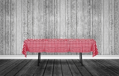 stock photo: table with a tablecloth-Raw Stock Photo ID: 66708