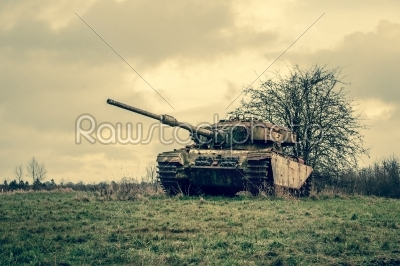 stock photo: tank on a battelfield-Raw Stock Photo ID: 65769