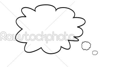 stock photo: thought bubble-Raw Stock Photo ID: 75129