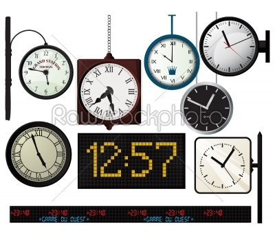 stock vector: train station watches collection-Raw Stock Photo ID: 55852