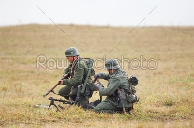 stock photo: two german soldiers-Raw Stock Photo ID: 67044