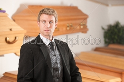 stock photo: undertaker in his store-Raw Stock Photo ID: 52062