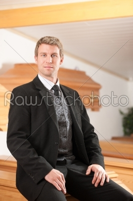 stock photo: undertaker in his store-Raw Stock Photo ID: 52063