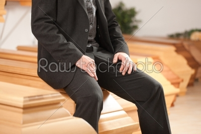 stock photo: undertaker in his store-Raw Stock Photo ID: 52064