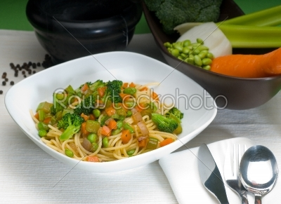 stock photo: vegetable pasta-Raw Stock Photo ID: 55009