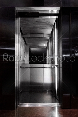 stock photo: view from inside the elevator-Raw Stock Photo ID: 55274