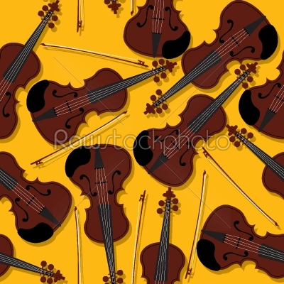 stock vector: violins and bow pattern-Raw Stock Photo ID: 58910
