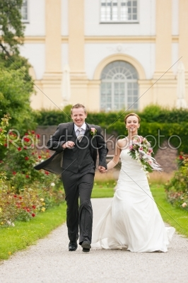 stock photo: wedding  bride and groom in a park-Raw Stock Photo ID: 50318