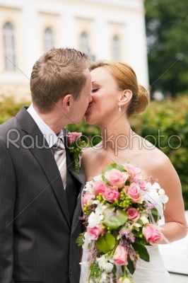stock photo: wedding  bride and groom in park-Raw Stock Photo ID: 50231