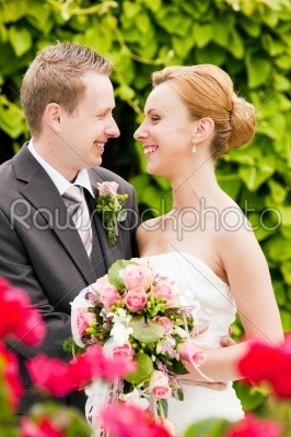 stock photo: wedding  bride and groom in park-Raw Stock Photo ID: 50232