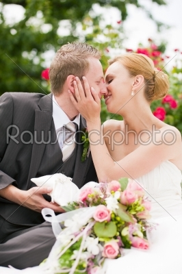 stock photo: wedding  kissing in park-Raw Stock Photo ID: 50277