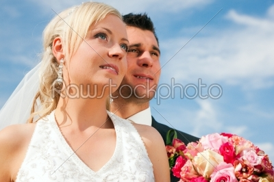 stock photo: wedding couple looking into future-Raw Stock Photo ID: 49894