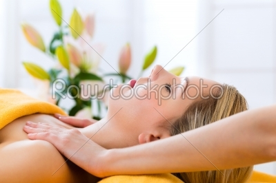 stock photo: wellness  woman getting head massage in spa-Raw Stock Photo ID: 52106
