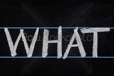 stock photo: what word handwritten on black chalkboard-Raw Stock Photo ID: 61255