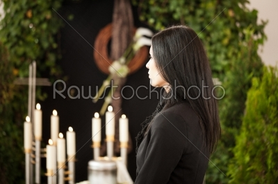 stock photo: woman at funeral mourning-Raw Stock Photo ID: 51920