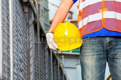 stock photo: worker on construction site with helmet or hard hat-Raw Stock Photo ID: 48886