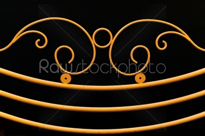 stock photo: yellow fence ornamental elements on black background-Raw Stock Photo ID: 55282