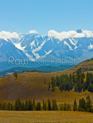 stock photo: yellow hill and rock altai mountain in ice-Raw Stock Photo ID: 68518