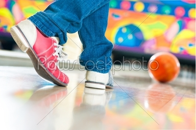 stock photo: young man bowling having fun-Raw Stock Photo ID: 49322