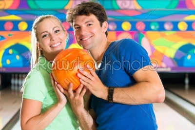stock photo: young people playing bowling and having fun-Raw Stock Photo ID: 49321